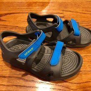 Toddler size 9 boys Crocs like new